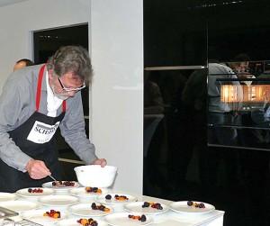 Vorbereitungen für das Dessert