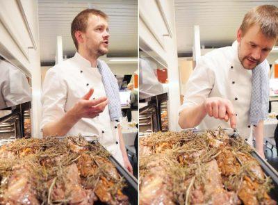 Daniel Teichmann erklärt Funktion der Miele-Küchengeräte