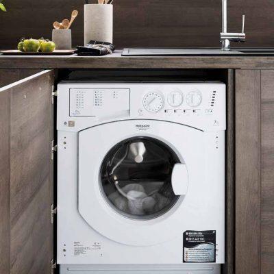 Eingebaute Waschmaschine