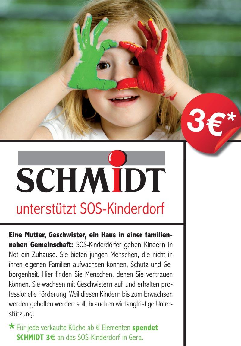 Schmidt unterstützt SOS-Kinderdorf