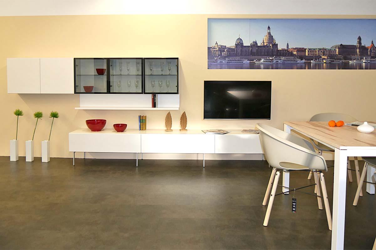 Ausstellung schmidt k chen und wohnwelt in dresden - Wohnwand mit soundsystem ...